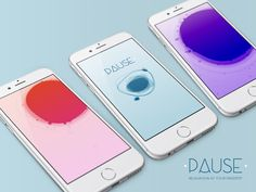 PAUSE was crafted to provide a simple, beautiful, intuitive app that would help users relax and relieve stress in seconds, no matter where they are.