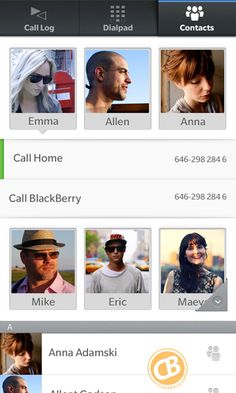 BlackBerry 10 Contacts