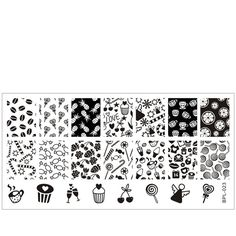 $4.19 Cute Candy Nail Art Stamp Template Image Plate BORN PRETTY BP-L023 12.5 x 6.5cm - BornPrettyStore.com