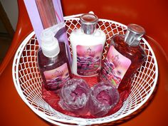 Verry Berry Gift Basket in RainbowRenah's Garage Sale in Oroville , WA for $10. Wire basket filled with very berry fragranced products to soothe and relax you, a friend, or a loved one. Incense sticks, hand gel, body lotion, shower gel, with two berry votives in glass holders. Plus shipping.