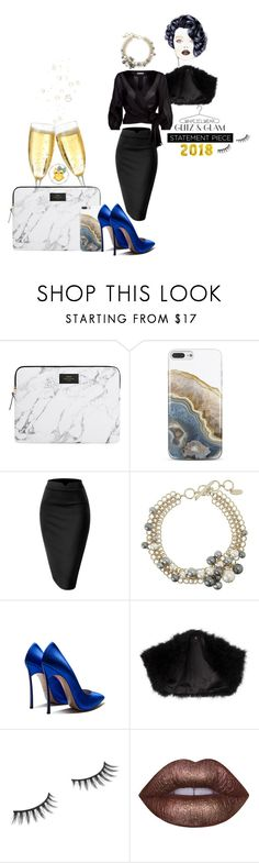 """""""Glitz & Glam for 2k18"""" by karmakaybee ❤ liked on Polyvore featuring Nanette Lepore, Lanvin, Ariella, Benefit, Lime Crime and Alice + Olivia"""