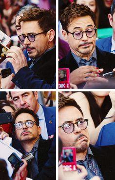 """RDJ derping in Paris for """"Iron Man 3"""""""