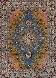 FR5145 Antique Persian Tabriz. Antique Rugs. Farzin Rugs. Dallas, Tx