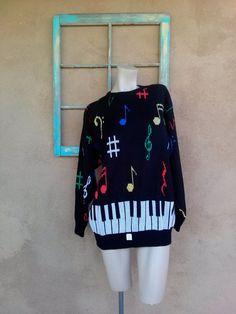 Vintage Sweater Jumper Ugly Sweater Glee Jazz Hands Mens Womens Large 2015451 by bycinbyhand on Etsy Fashion Vintage, 80s Fashion, Fashion Trends, Holiday Fashion, Winter Fashion, Ugly Sweater Party, Kinds Of Clothes, Antique Clothing, Vintage Sweaters