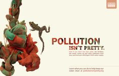 environmental water protection poster, Pollution Isn't Pretty Campaign // design by Redhead Design Studio
