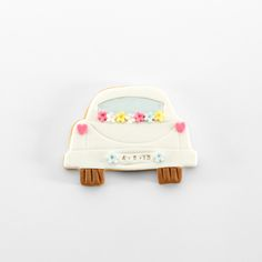 Galleta decorada boda // Wedding car cookie