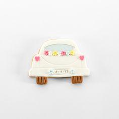 Galleta decorada boda // Wedding car cookie
