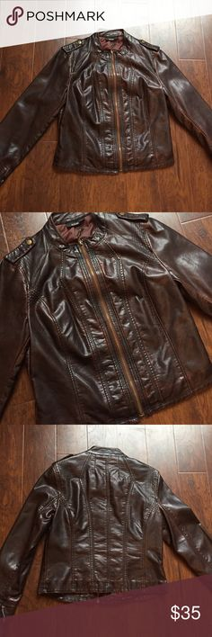 Faux Leather Jacket Great condition! Only worn a few times! a.n.a Jackets & Coats