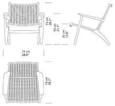Lounge chair by Hans J Wegner - CH25 - Carl Hansen & Søn