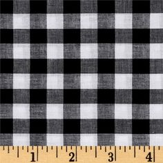 Lawn Gingham Check Black/White from @fabricdotcom  This very lightweight cotton lawn fabric features a yarn-dyed black and white checkered pattern, has a soft hand and a nice drape. Use this fabric to create blouses, skirts and dresses with a lining.