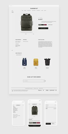 Clean website design for eCommerce. Beautiful product layout too.: Clean website design for eCommerce. Beautiful product layout too. Website Design Inspiration, Website Design Layout, Design Blog, Web Design Company, Page Design, Layout Design, Simple Website Design, Web Layout, Website Design Minimalist