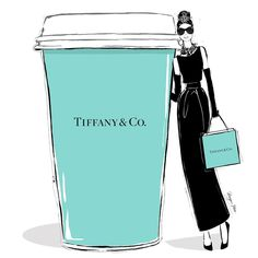 "38 Likes, 1 Comments - Megan Hess (@meganhess_official) on Instagram: ""Breakfast at Tiffany's. Even Audrey needs a triple shot in her coffee this morning!…"""