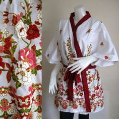 Example of a kimono style robe. Simple but neat.