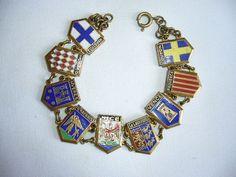 Vintage French South of France Enamel Bracelet
