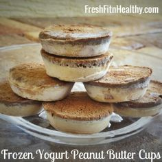 Ripped Recipes - Reeses Frozen Yogurt Bites - Why eat a typical Reeses cup when you can enjoy these frozen, healthy versions of this candy in this hot summer weather?!