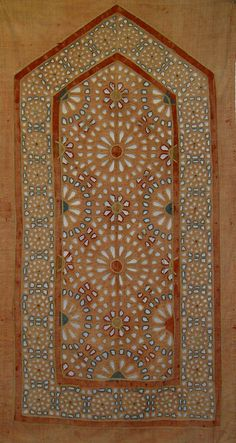 Antique Indian Textile. Cotton Applique panel from a tent.  1800-1900 A.D