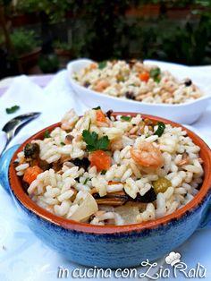 Insalata di riso di mare fredda - In cucina con Zia Ralù Zia, Grains, Friends, Recipes, Food, Amigos, Recipies, Essen, Meals