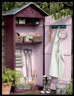This is fantastic!  (old outhouse refurbish)????