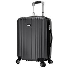 "Ricardo Beverly Hills 20"" Silver Hardside Spinner Carry-On . My newest suitcase for traveling"
