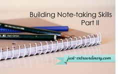 Building Note-taking Skills, Part II - Here are some more helpful hints for students as they are taking notes in a classroom or any other lecture situation. Knowing this stuff in advance is so much more helpful than learning by trial and error!