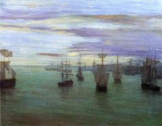Global Gallery 'Crepuscule in Flesh Colour and Green Valparaiso by James McNeill Whistler Framed Painting Print James Abbott Mcneill Whistler, Joseph Mallord William Turner, Art Nouveau, Steampunk, Tate Britain, Art Uk, Art For Art Sake, American Artists, Painting Frames