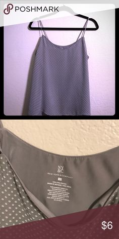 Polka dot camisole Soft grey light polka dot camisole. Tops Camisoles