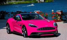 Pink Aston Martin Vanquish. Wait.. Pink ??