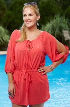 bc935691cf4 Always For Me Cover Drawstring Tunic - plus size swimsuit cover up Curvy  Outfits