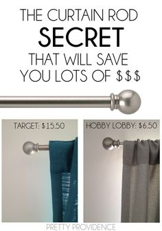 Money Saving Tips | The curtain rod secret that will save you lots of $$$!