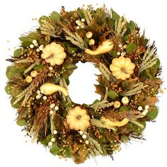"I pinned this 22"" Pumpkin Fest Wreath from the Floral Treasure event at Joss and Main!"