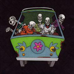 A Scooby Doo skeleton parody fan art Square Ink Drawing art Shaggy Rogers, Daphne And Velma, Daphne Blake, Scooby Doo Mystery, Velma Dinkley, Skeleton Art, Skull And Bones, Skull Art, Creepy