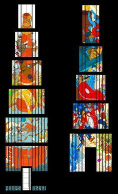 Stainedglass design by Stefan Glerum
