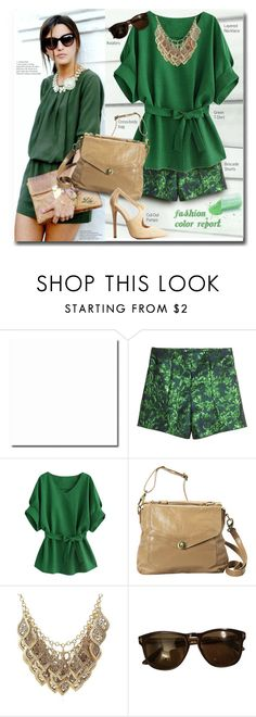 """""""*Trend Report - Green"""" by fashion-architect-style ❤ liked on Polyvore featuring ADAM, H&M, Latico, Tom Ford and Charlotte Russe"""