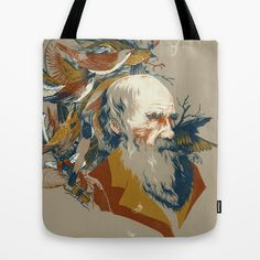 the descent of man Tote Bag by Teagan White - $22.00