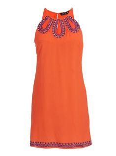 Eye spy dress Coral