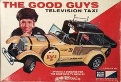 """""""The Good Guys Television Taxi"""" model kit. Made by MPC in the early The T. show starred Bob (Gilligan) Denver. Vintage Models, Old Models, Vintage Ads, Carrera Slot Cars, Toys For Us, Plastic Model Cars, Model Cars Kits, Funny Dating Quotes, Diecast Models"""