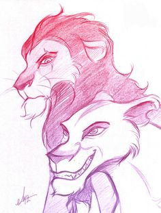 Scar and Zira - Sketch