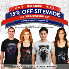 #Labor #Day #sale on right now guys don't miss out on the opportunity to get 15% off #sitewide until #Tuesday midnight pst on all our awesome #designer #tshirts , #tank #tops , #sweatshirts , #cell #cases and #wall #prints only @designbyhumans  Don't miss it!! USE CODE: GOLDENTICKET http://www.designbyhumans.com/shop/Cyncor5020/ #tshirts #tees #clothing #apparel #fashion #design #graphics #designbyhumans #case #dbh #dbhtees #tshirt #fashion #design #tshirts #tees #laborday #apparel #clothing