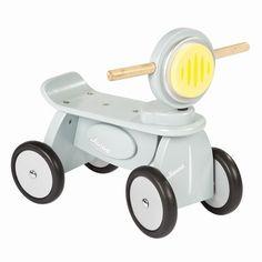 A cute wooden mini scooter in Light Blue.