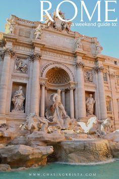 Weekend in Rome – Chasing Krista Cruise Europe, Packing For A Cruise, Weekend In Rome, Visiting The Vatican, Best Weekend Getaways, Europe Continent, Italy Travel Tips, Trevi Fountain, Sistine Chapel