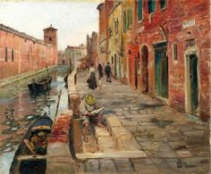 Frits Thaulow - Fra Venezia, oil on canvas