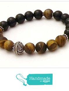 Spiritual Beads Men's Beaded Tiger's Eye Black Agate and Sterling Silver Beads Women's Stretch Bracelet from Rosewood Bracelets http://www.amazon.com/dp/B01DVBN0VK/ref=hnd_sw_r_pi_awdo_cHIuxb0T20VTR #handmadeatamazon