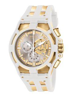 Invicta Watches: Men's Akula Gold & White Rubber Watch (via #spinpicks)