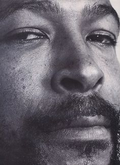 oldschoolsoulfan89: Marvin Gaye Close-up photo.