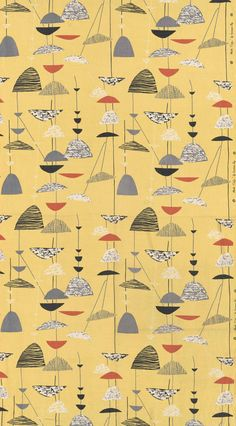 Lucienne Day 1951. Very contemporary in feel, so much so that if you didn't know when it was made you would probably guess at the 21st centaury when in fact it is from the 1950's.