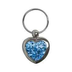 Broken Ice Key Chains (Heart) ($14) ❤ liked on Polyvore featuring accessories, decor, rock, fob key chain, heart shaped key chains and heart key chain