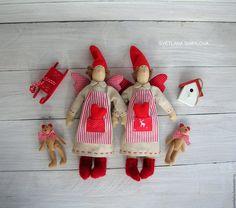 Купить Сплюшка Тильда ангел добрых снов текстильная кукла с мишкой - сплюшка, сплюша, сплюх