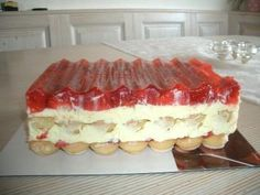 Rezept: Erdbeerschnitten ohne backen