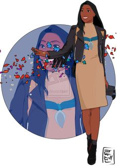 DISNEY UNIVERSITY: ARTIST REIMAGINES CLASSIC CHARACTERS AS COLLEGE STUDENTS: Pocahontas