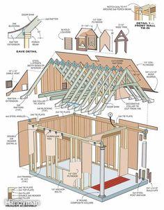 16x24 Cabin W Loft Plans Package Blueprints Material